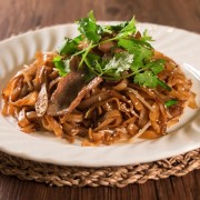 Fried Flat Rice Noodles with Beef in Swiss Sauce - approx. 5lbs - Tsim Sha Tsui