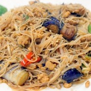 Rice Noodles with Braised Eggplant and Minced Pork in Spicy Garlic Sauce - Tsim Sha Tsui