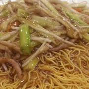 Shredded Pork and Mushroom with Fried Noodles - Tsim Sha Tsui