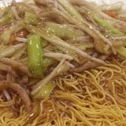 Shredded Pork and Mushroom with Fried Noodles - Tsim Sha Tsui