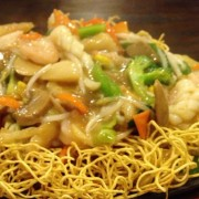 Fresh Squid with Stir-Fried Noodles in Supreme Soy Sauce - Tsim Sha Tsui