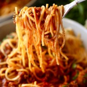 Baked Bolognese in Tomato Sauce with Rice or Spaghetti - Tsim Sha Tsui