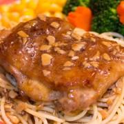 Pork Chop or Steak or Chicken Steak in Garlic Sauce with Rice or Spaghetti - Tsim Sha Tsui