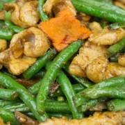 Fried Pork Jowl & Vegetable in XO Sauce - Tsim Sha Tsui