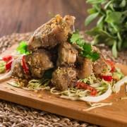Pork Knuckle on Sizzling Plate in Black Pepper Sauce - Tsim Sha Tsui